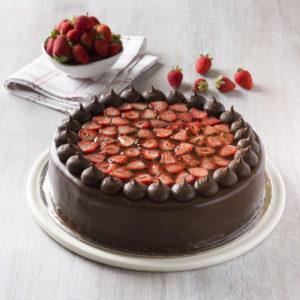 Large cakes - chocolate strawberry
